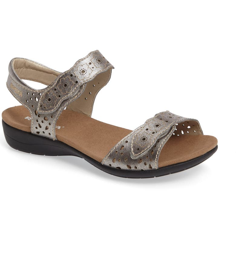 ROMIKA<SUP>®</SUP> 'Tahiti 03' Quarter Strap Sandal, Main, color, ANTHRACITE LEATHER