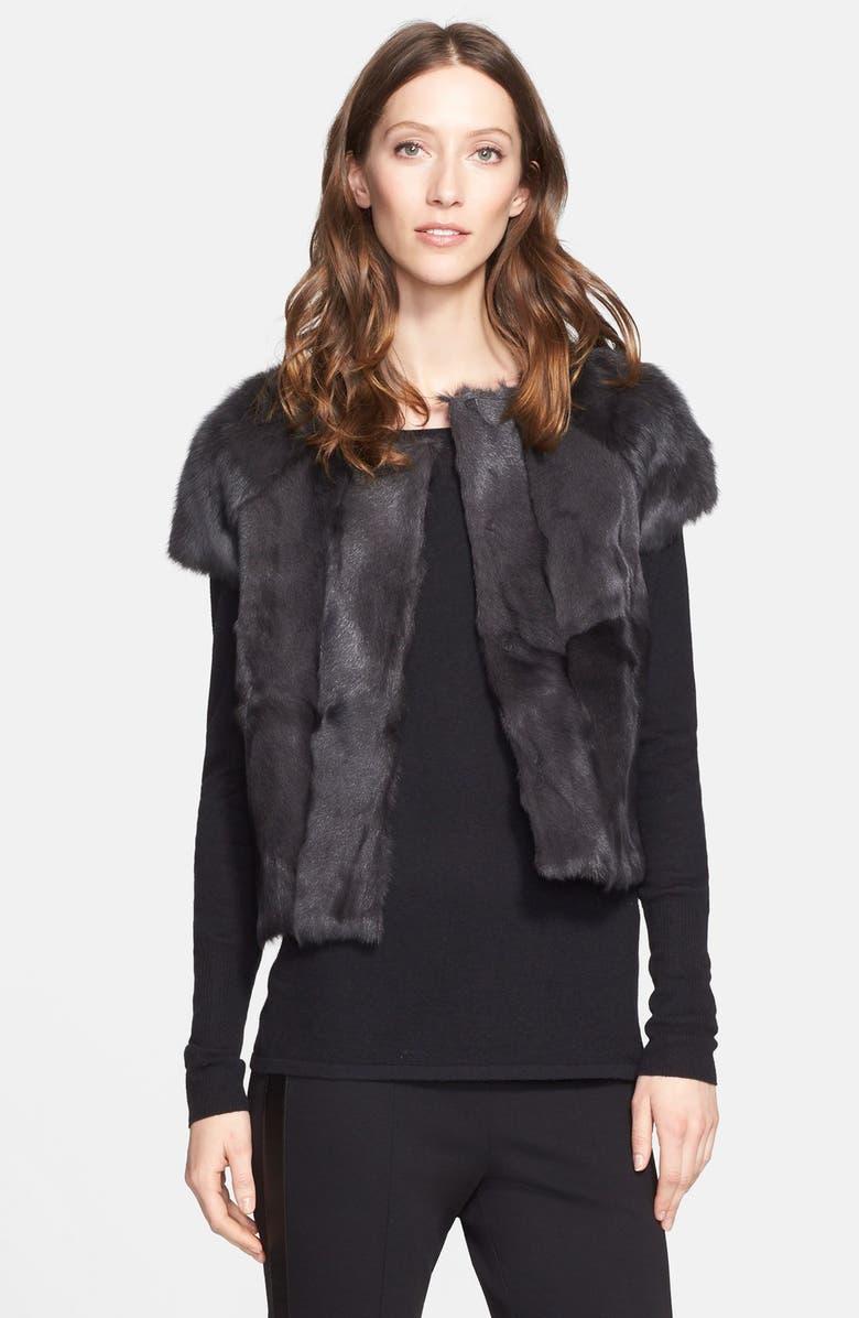 POLOGEORGIS Genuine Rabbit Fur & Goat Fur Vest, Main, color, 020