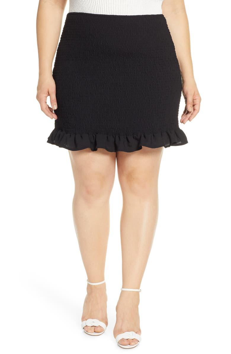 LEITH Smocked Skirt, Main, color, 001