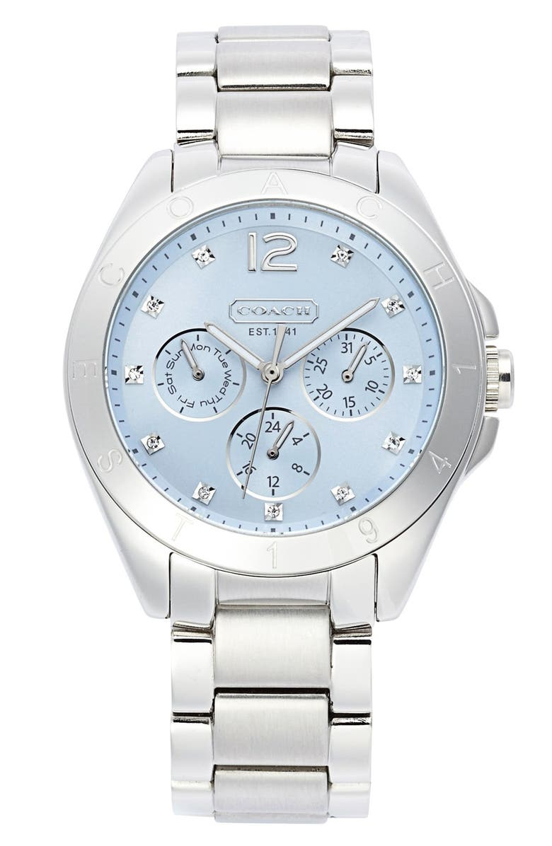 COACH 'Tristen' Multi Eye Dial Bracelet Watch, 36mm, Main, color, 040