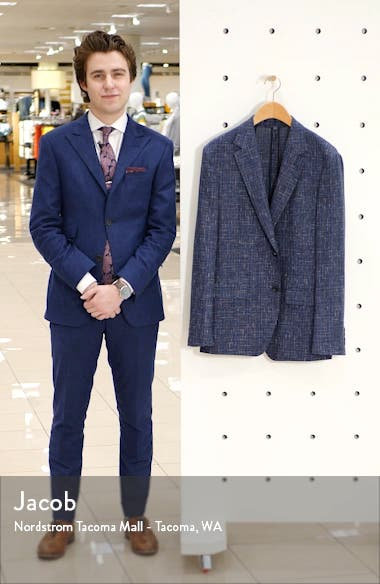 Capstone Slim Fit Tweed Linen Blend Sport Coat, sales video thumbnail