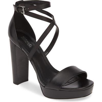 Michael Michael Kors Charlize Strappy Platform Sandal, Black