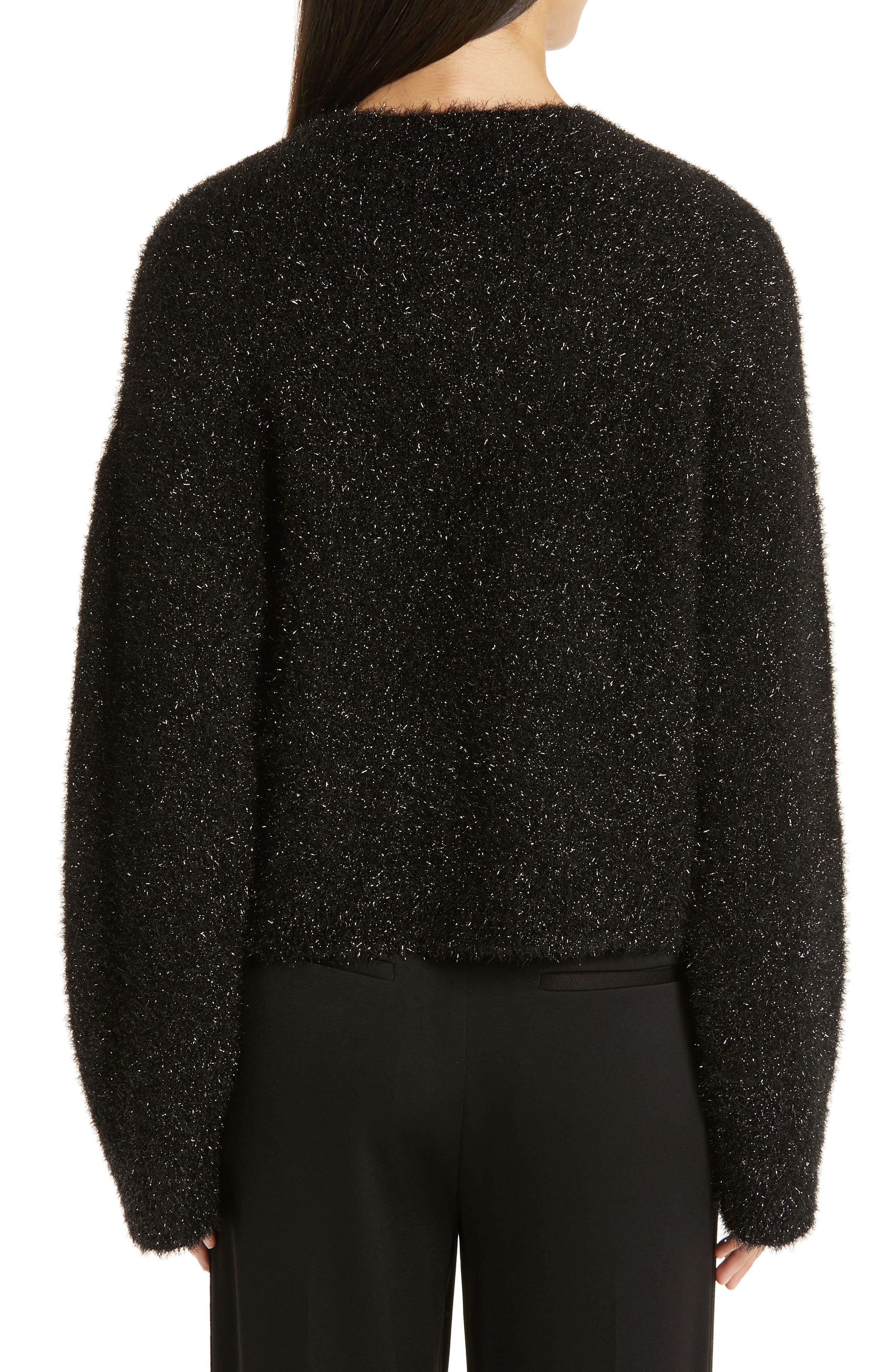 ,                             Boxy Metallic Knit Sweater,                             Alternate thumbnail 2, color,                             001
