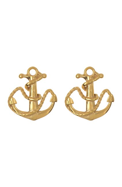Image of Alex and Ani Anchor Stud Earrings
