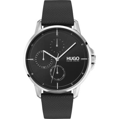 Hugo Leather Strap Watch, 42Mm