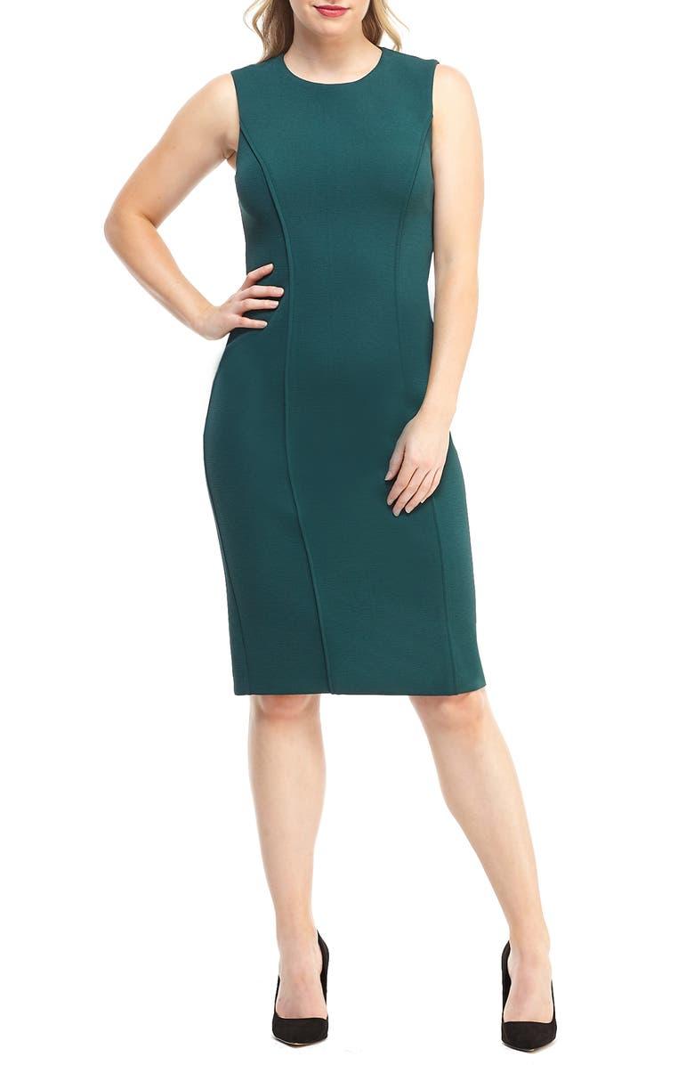 MAGGY LONDON Career Knit Sheath Dress, Main, color, 301