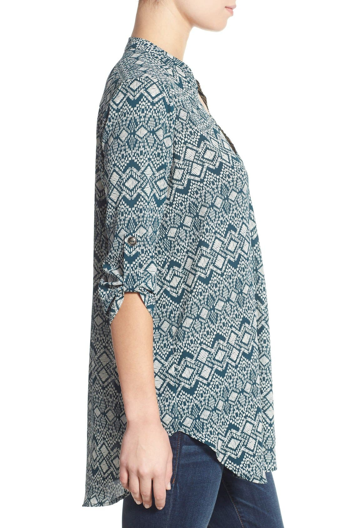 ,                             Perfect Roll Tab Sleeve Tunic,                             Alternate thumbnail 309, color,                             472
