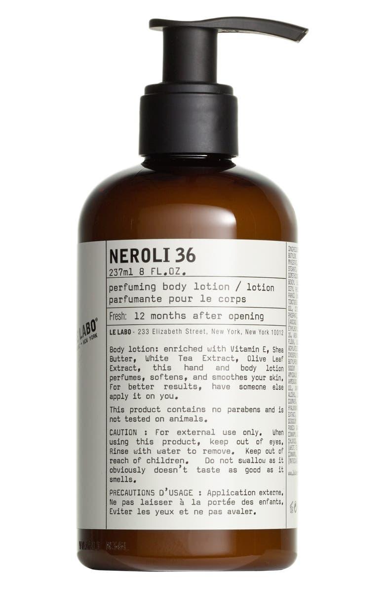 LE LABO 'Neroli 36' Perfuming Body Lotion, Main, color, NO COLOR