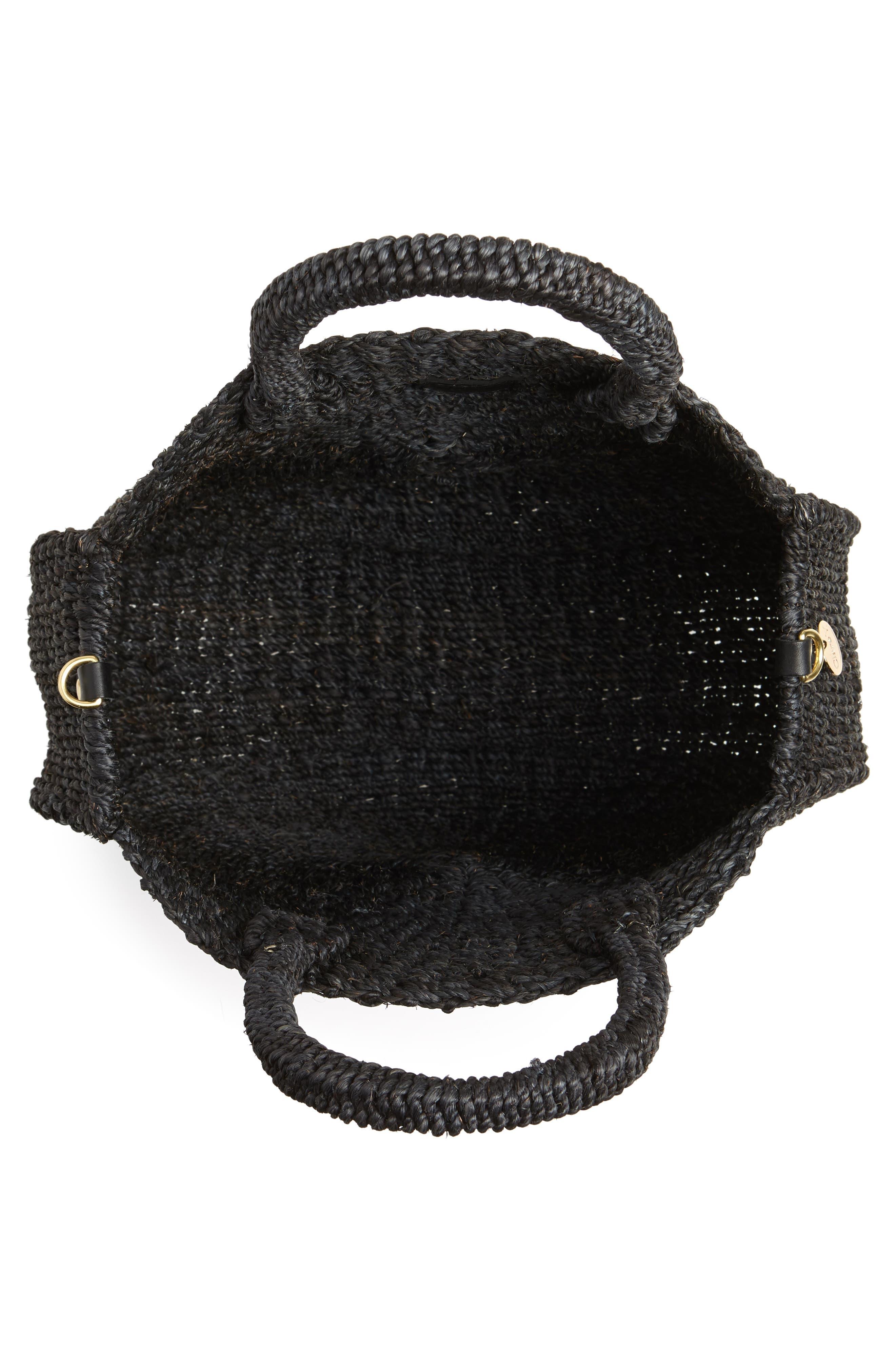 ,                             Alice Woven Sisal Straw Bag,                             Alternate thumbnail 4, color,                             BLACK