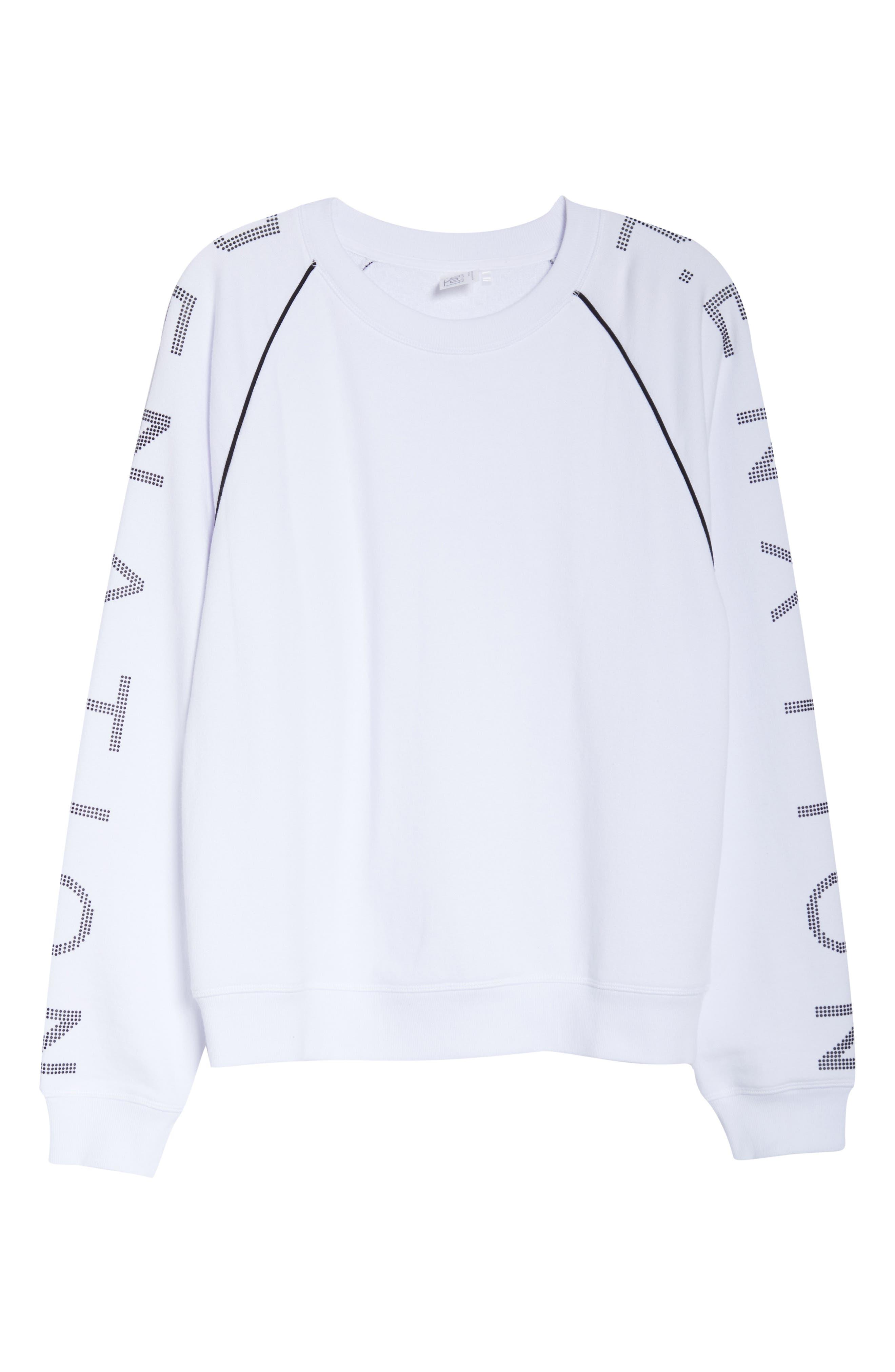 ,                             Highline Sweatshirt,                             Alternate thumbnail 7, color,                             WHITE/ BLACK