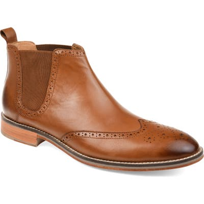 Thomas And Vine Thorne Wingtip Chelsea Boot, Brown