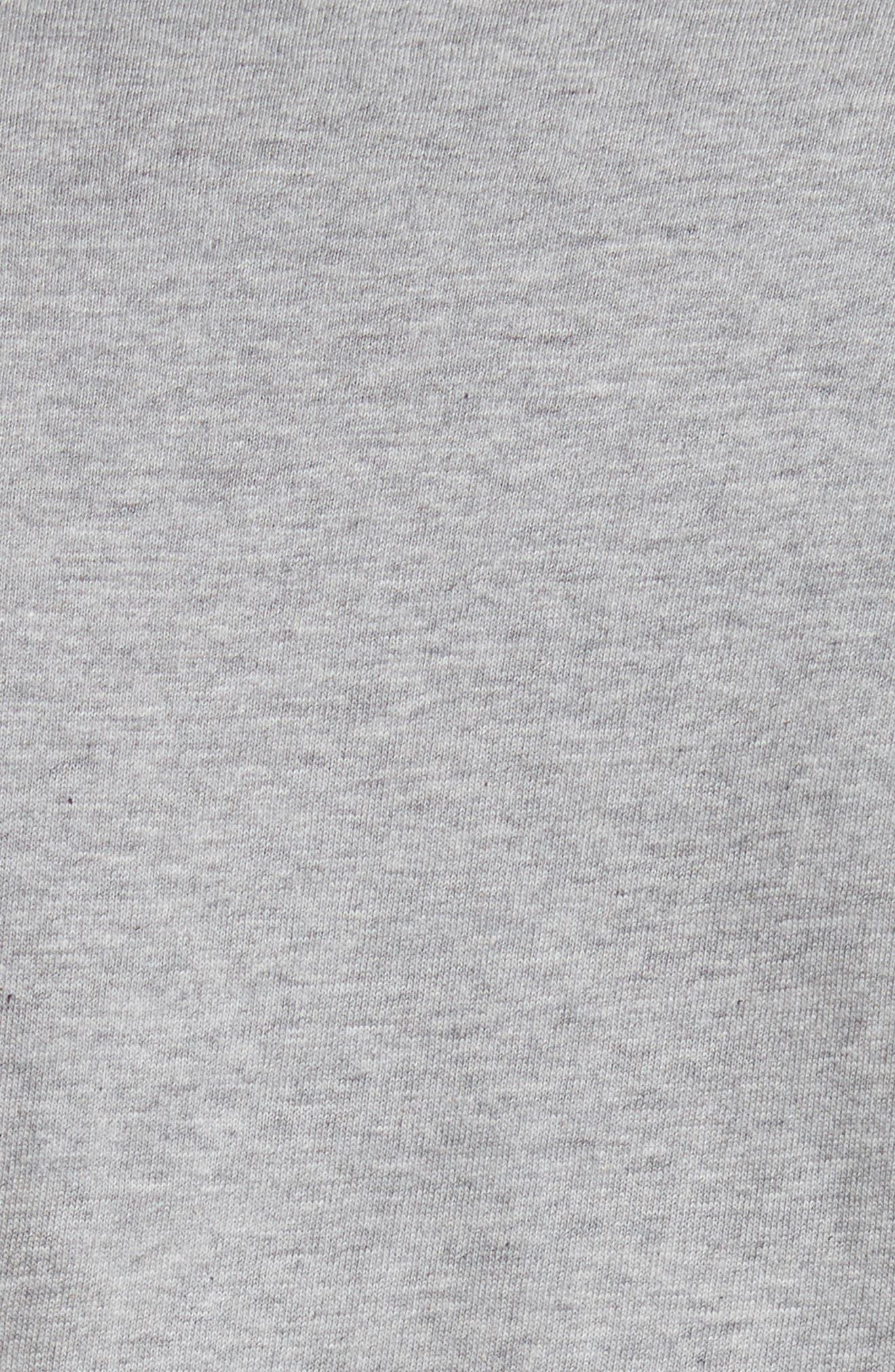 ,                             Logo Slim Fit Graphic Crewneck T-Shirt,                             Alternate thumbnail 5, color,                             TOP DYED GRAY