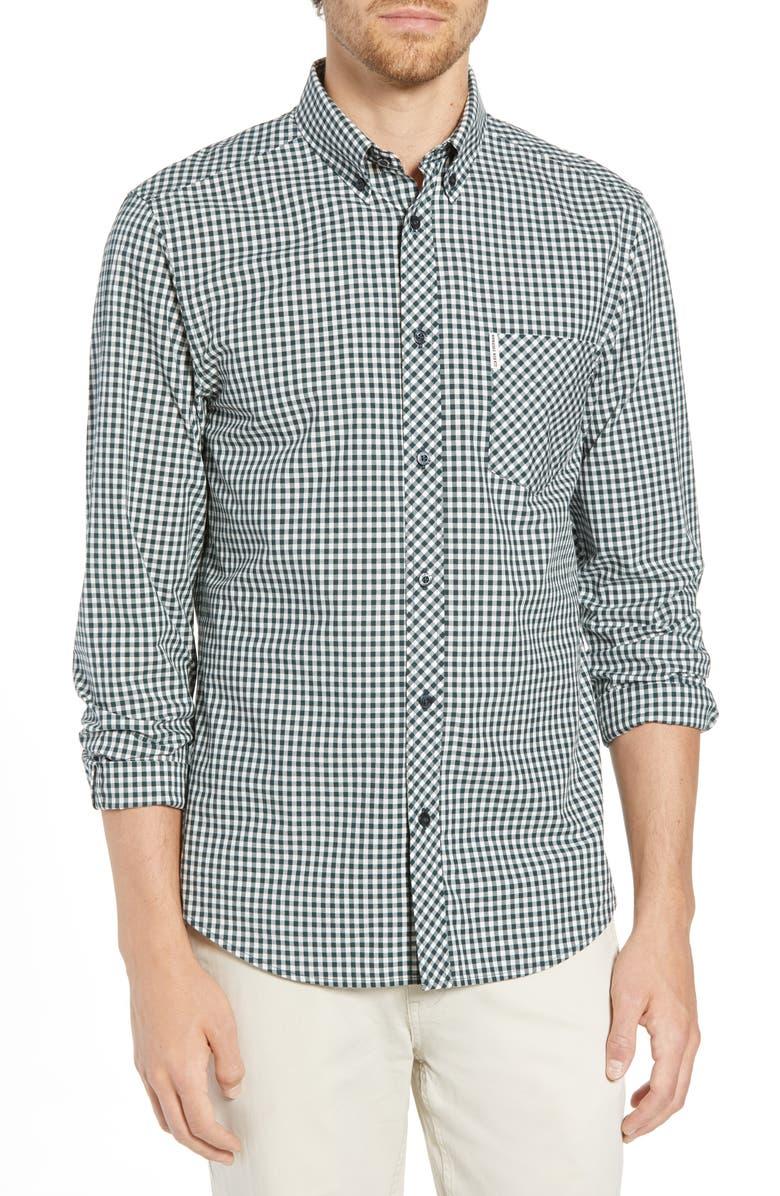 BEN SHERMAN Slim Fit Gingham Shirt, Main, color, 301