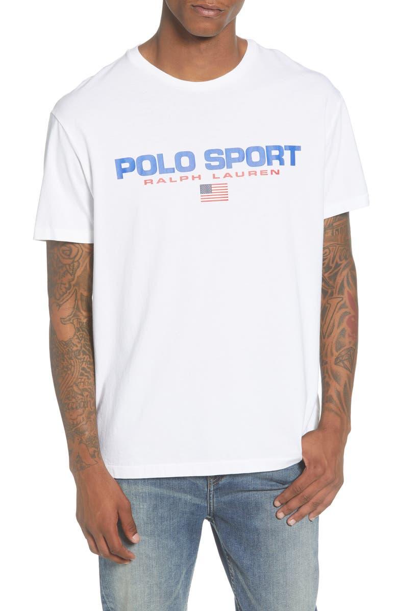POLO RALPH LAUREN Polo Sport T-Shirt, Main, color, WHITE