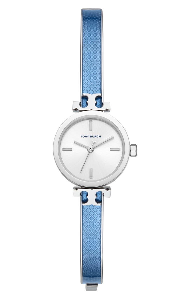 토리버치 Tory Burch The Slim Light Blue Bangle Watch, 22mm,blue