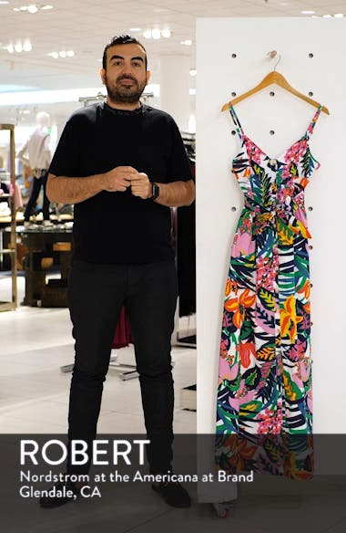 Floral Spaghetti Strap Maxi Dress, sales video thumbnail