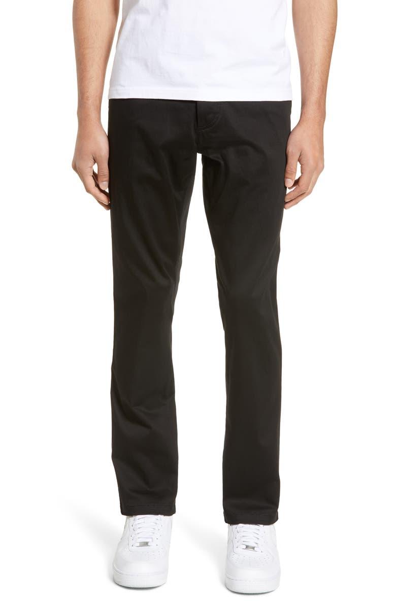 WINGS + HORNS Cadet Slim Fit Pants, Main, color, 001