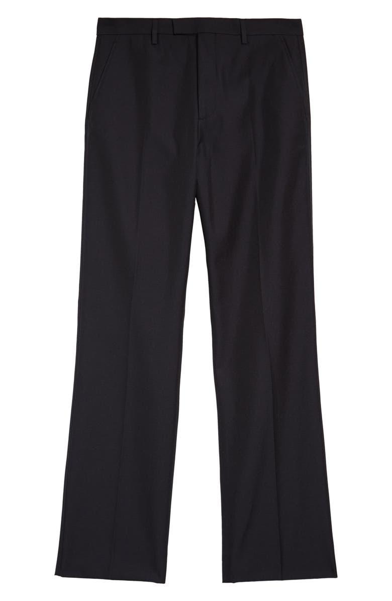 ACNE STUDIOS Portage Flat Front Trousers, Main, color, BLACK