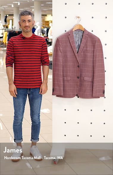 Slim Fit Windowpane Suit Jacket, sales video thumbnail