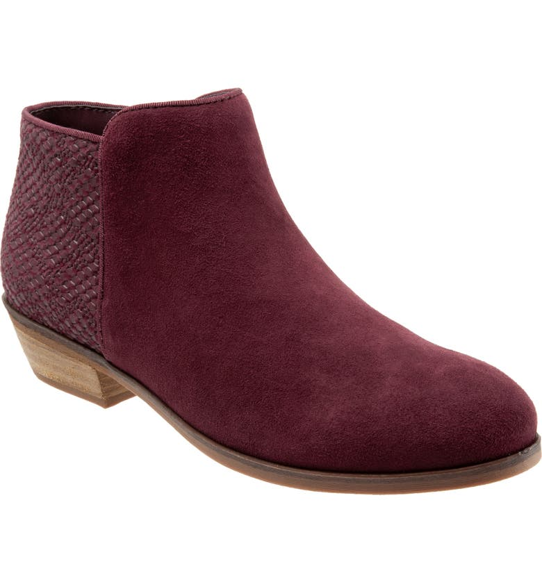 SOFTWALK<SUP>®</SUP> 'Rocklin' Bootie, Main, color, BURGUNDY LEATHER