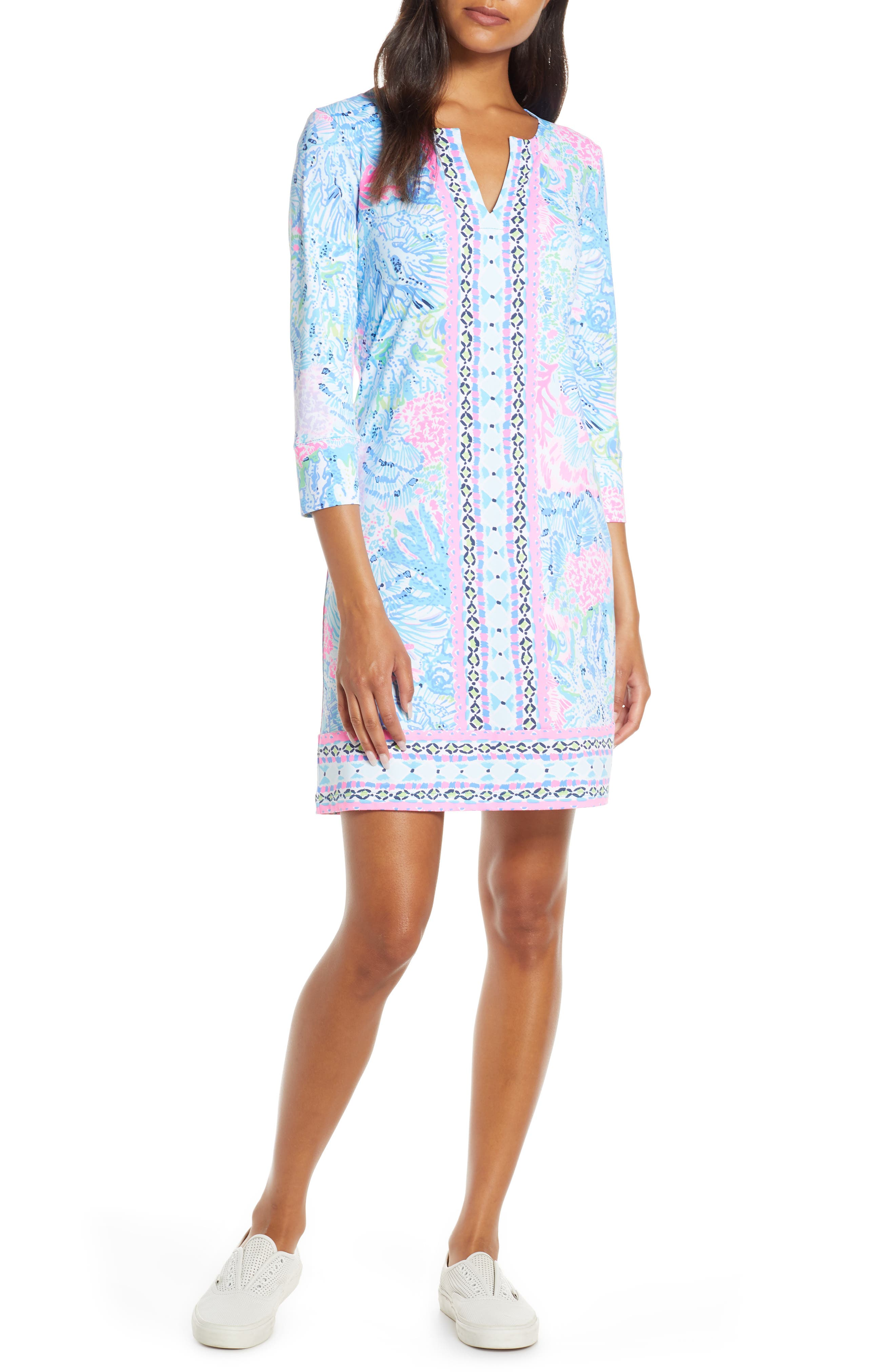 Lilly Pulitzer Nadine Upf 50+ Shift Dress, Pink