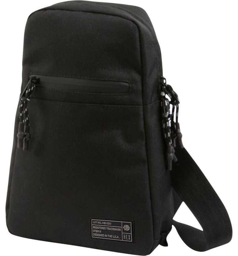 HEX Shoulder Bag, Main, color, BLACK NERO RIPSTOP