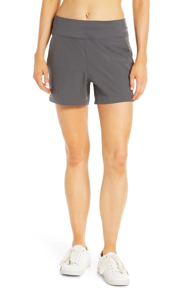 PATAGONIA Happy Hike Shorts, Main, color, FORGE GREY