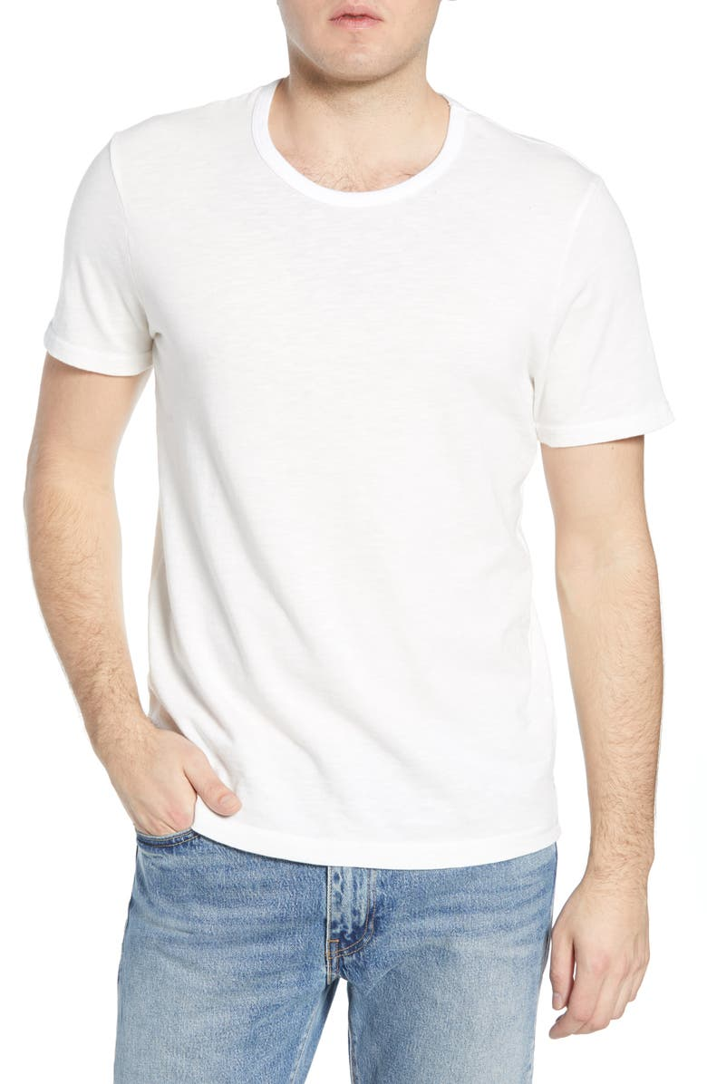 MILLS SUPPLY BY SPLENDID Humboldt Sulfur Dyed Ringer T-Shirt, Main, color, AGED BRIGHT WHITE
