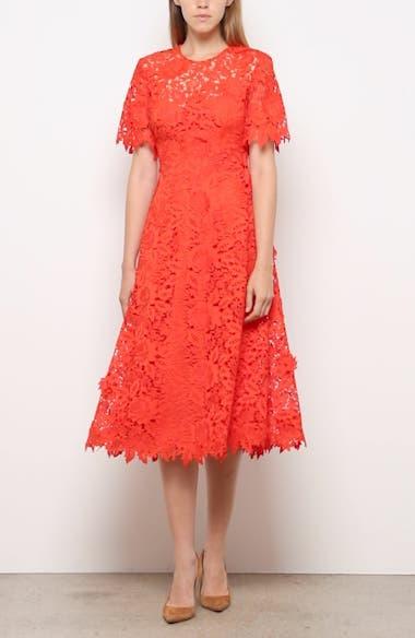 Flutter Sleeve Lace Midi Dress, video thumbnail