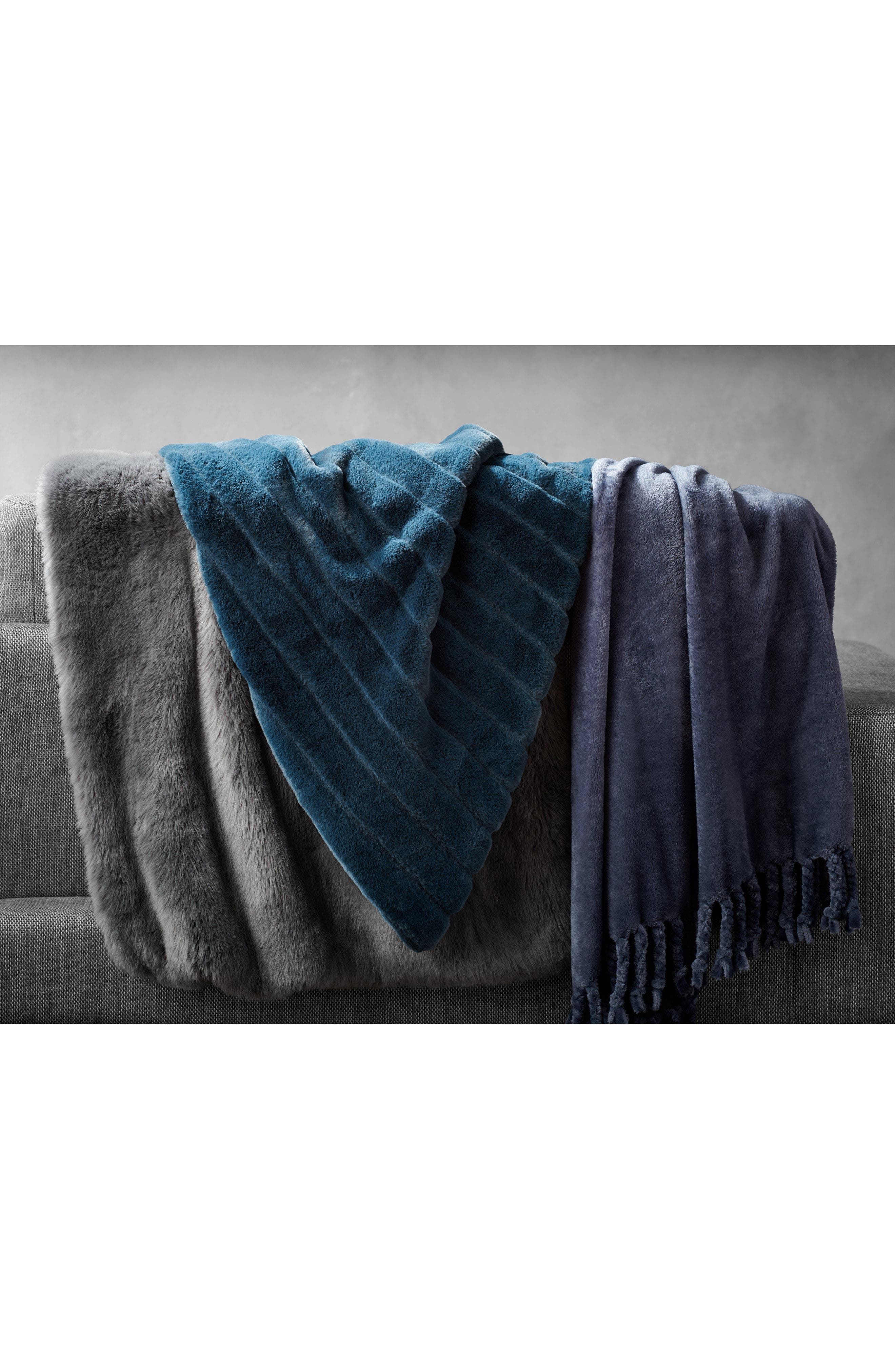 ,                             Kennebunk Bliss Plush Throw,                             Alternate thumbnail 6, color,                             GREY MAGNET