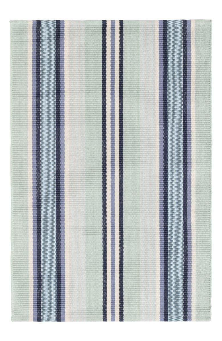 DASH & ALBERT Barbados Stripe Rug, Main, color, BLUE