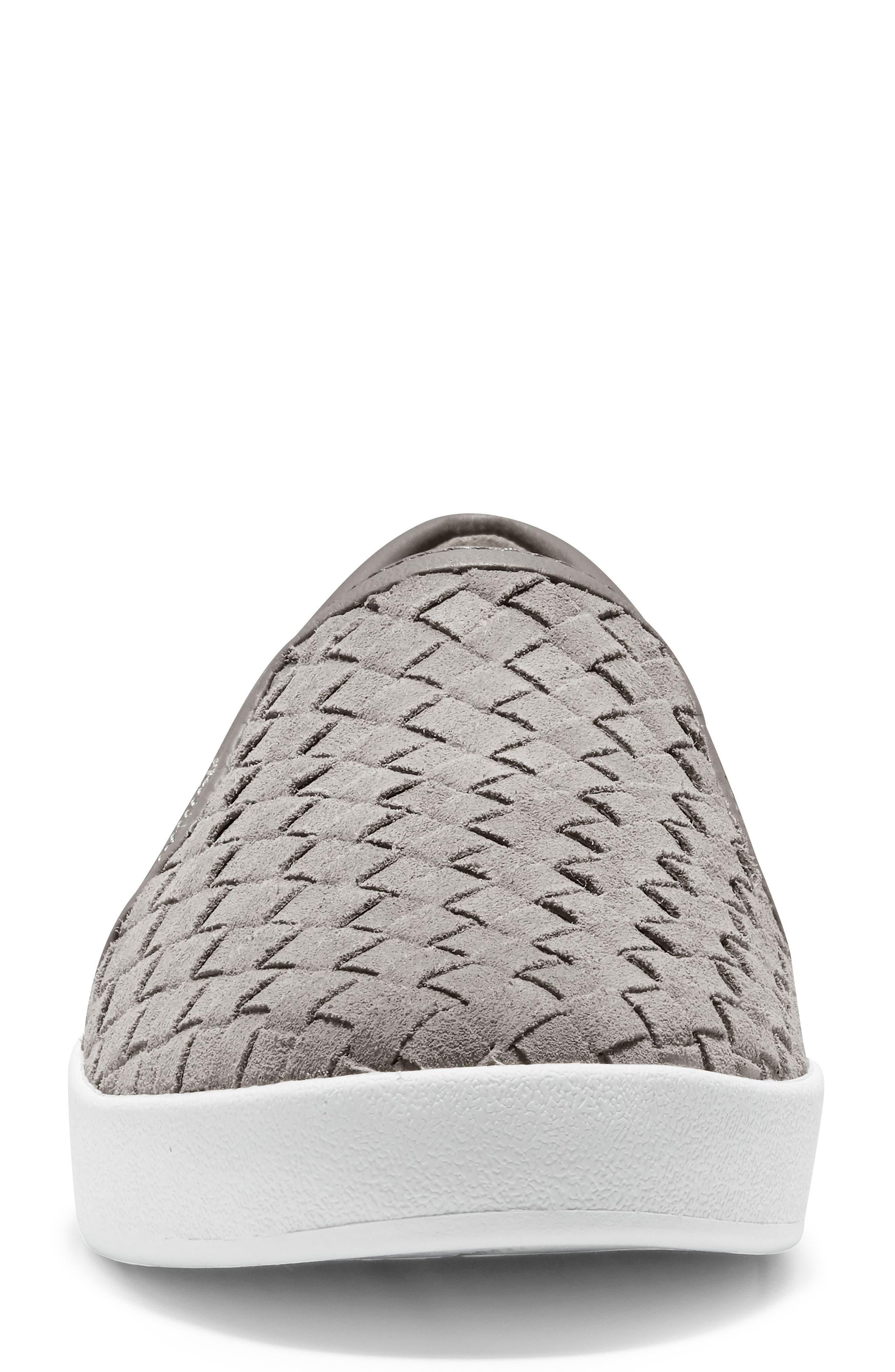 ,                             GrandPro Woven Slip-On Sneaker,                             Alternate thumbnail 4, color,                             IRONSTONE WOVEN SUEDE