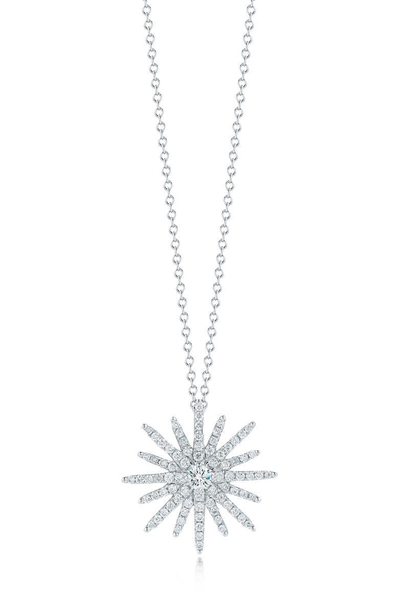 KWIAT Elements Pavé Diamond Pendant Necklace, Main, color, WHITE GOLD