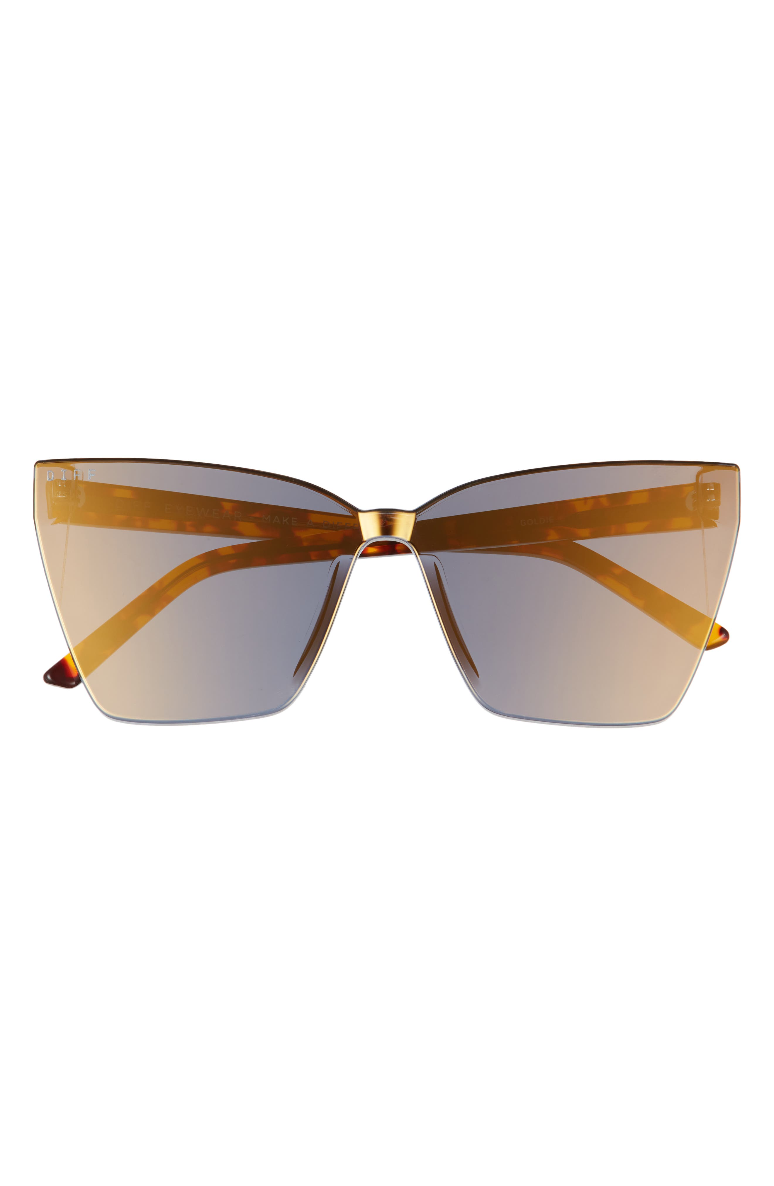 Goldie 65mm Oversize Cat Eye Sunglasses