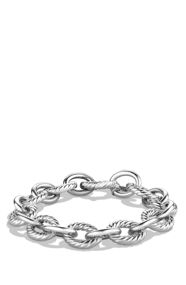 DAVID YURMAN 'Oval' Large Link Bracelet, Main, color, SILVER