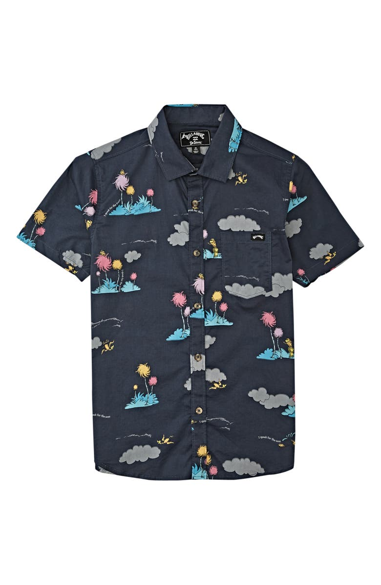 BILLABONG x Dr. Seuss The Lorax Island Button-Up Shirt, Main, color, 020