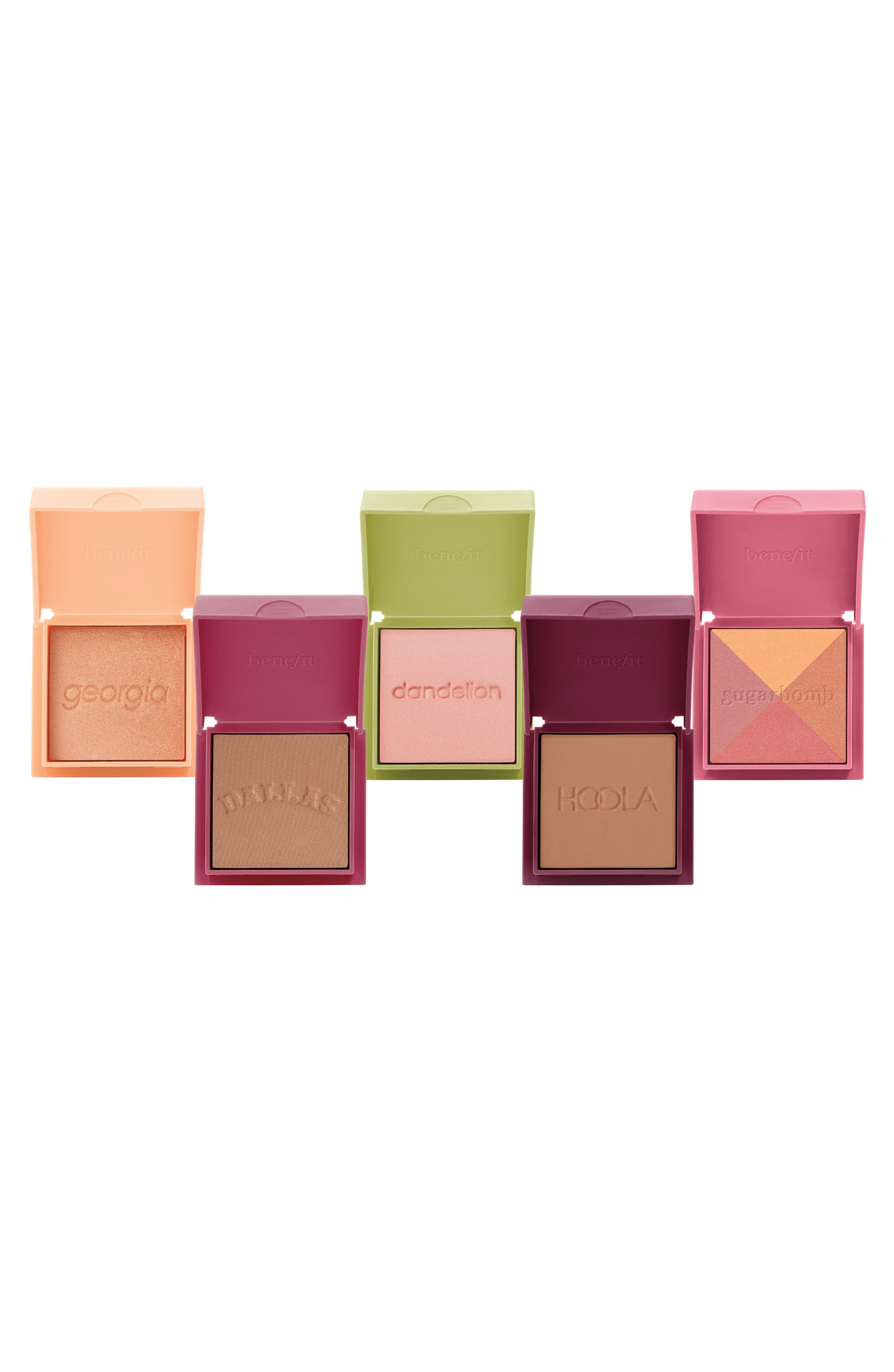 Benefit Cheektopia 5-Piece Travel Size Blush & Bronzer Set