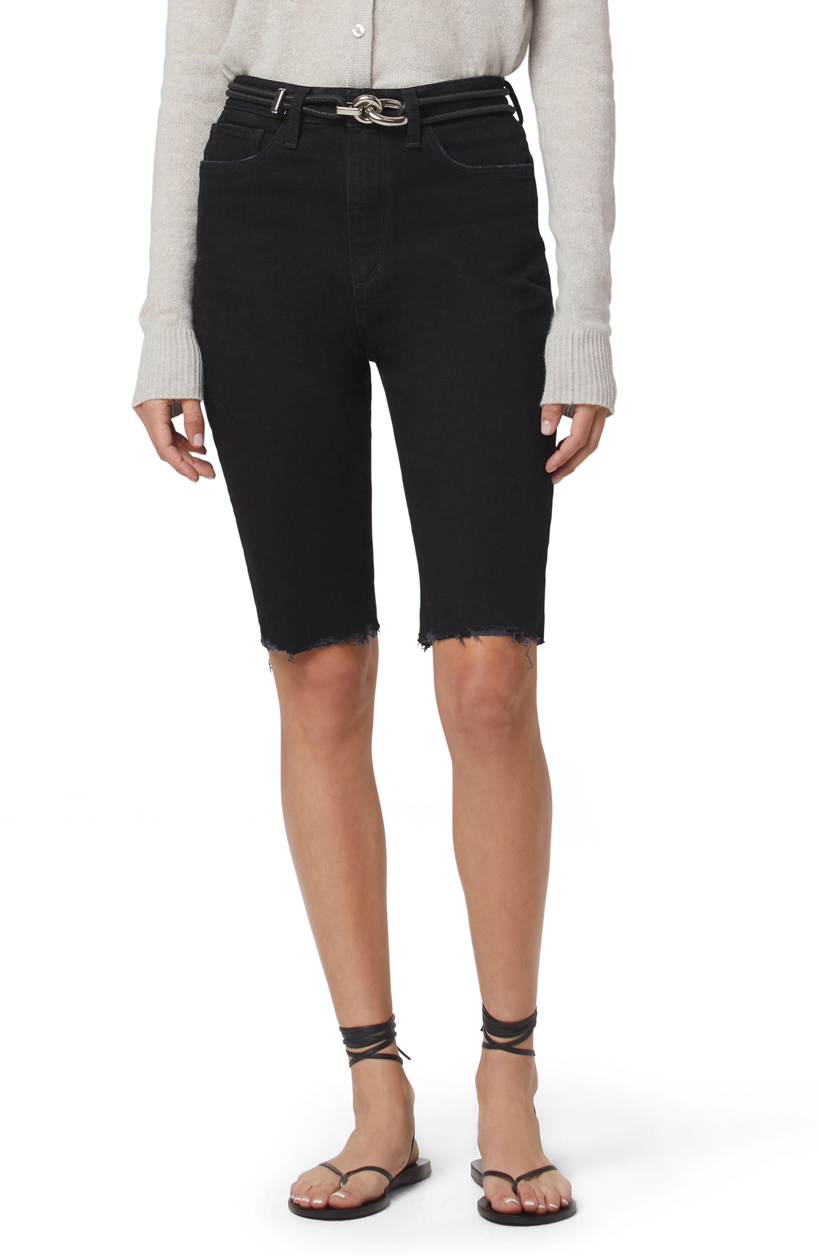 The Eva Long Slim Denim Shorts