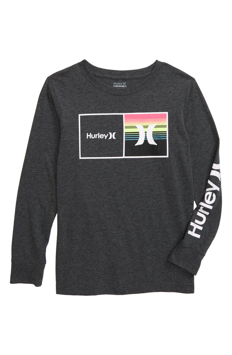 HURLEY Logo Graphic T-Shirt, Main, color, CHARCOAL HEATHER
