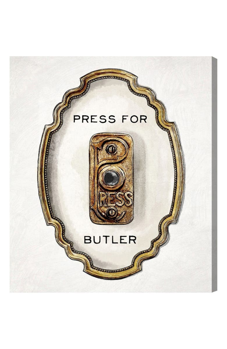 OLIVER GAL Press for Butler Canvas Wall Art, Main, color, WHITE