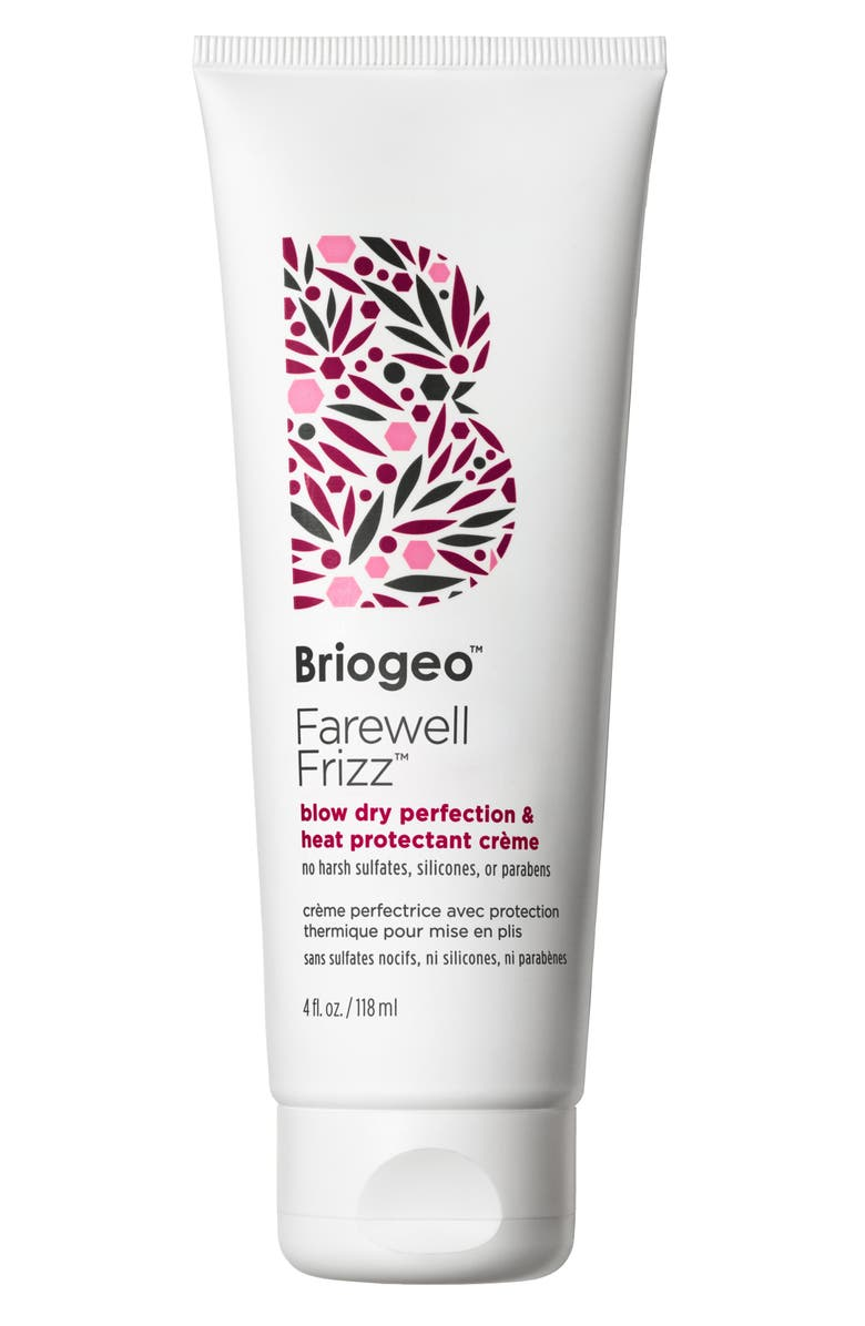 BRIOGEO Farewell Frizz Blow Dry Perfection and Heat Protectant Crème, Main, color, 000