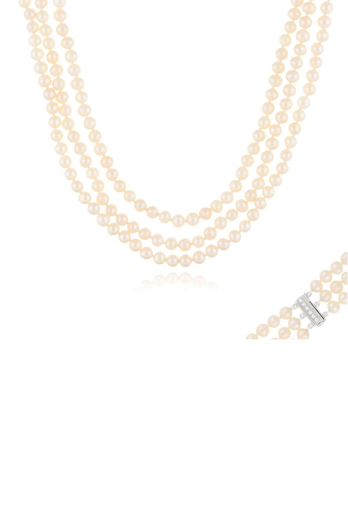 Image of Splendid Pearls 6-7mm Freshwater Pearl Triple Necklace