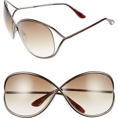 Tom Ford Miranda Open Temple Oversize Metal Sunglasses -