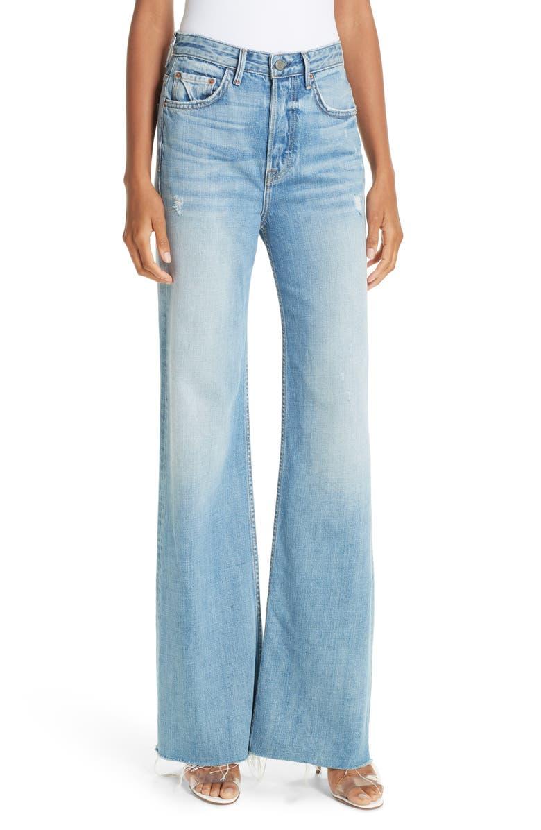 GRLFRND Carla Wide Leg Jeans, Main, color, 410
