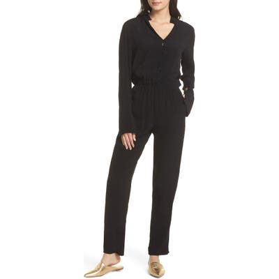 Fraiche By J Shirt Top Jumpsuit, Black