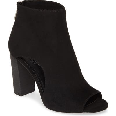 Charles By Charles David Fable Cutout Open Toe Bootie, Black