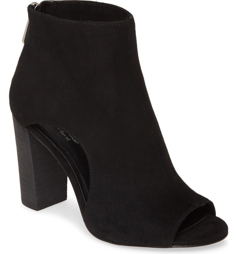 CHARLES BY CHARLES DAVID Fable Cutout Open Toe Bootie, Main, color, BLACK