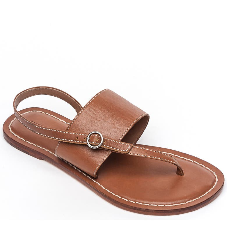 BERNARDO Footwear Meg Thong Sandal, Main, color, LUGGAGE ANTIQUE LEATHER