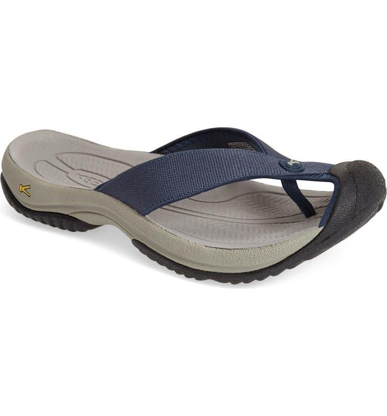 KEEN 'Waimea H2' Water Thong Sandal, Main, color, MIDNIGHT NAVY/ NEUTRAL
