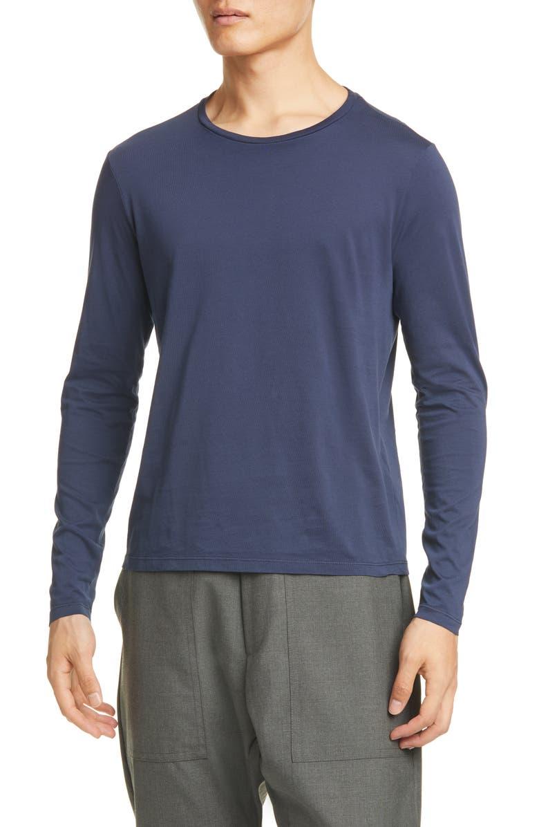 BARENA VENEZIA Luigi Long Sleeve T-Shirt, Main, color, NAVY